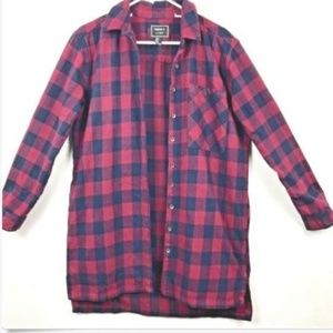 Forever 21 Wmn Sz M Red Black Plaid Flannel Shirt